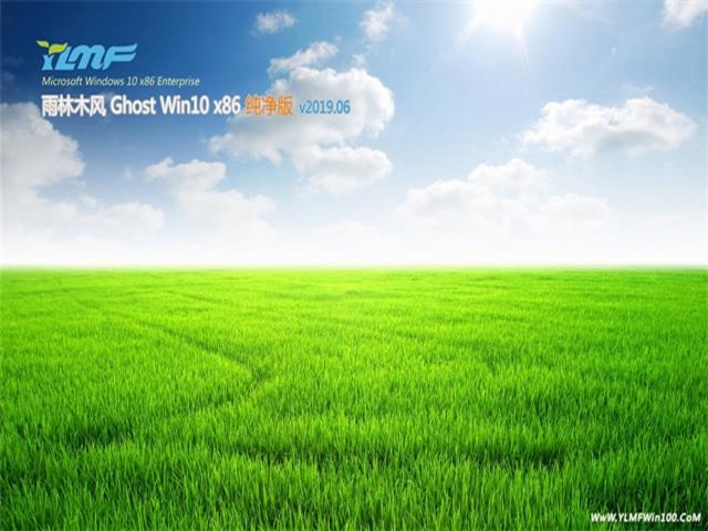 雨林木风GHOST Win10 x86 纯净版v2019.06